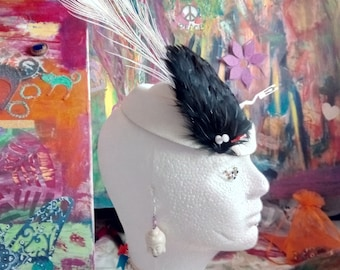 Vintage, feathers, earrings, chokers, exclusivity,