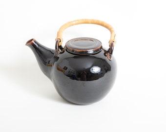Hjorth teapot, Vintage Danish teapot, Red brown teapot, Modern Mid century teapot, Hygge teapot bamboo handle, Kitchen scandinavian Gift