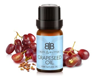 Grapeseed Carrier Oil 100% Pure Natural Fragrance Cosmetic Grade Massage Aromatherapy - 1ml, 10ml, 25ml, 50ml, 100ml Bottle