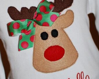 INSTANT DOWNLOAD, Machine Applique Design, Reindeer Rag or Felt Stitch Out