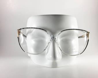 Haute Couture Vintage Frames 57-16 3843-1 Gray Plastic NOS Deadstock - HAUF67W-1