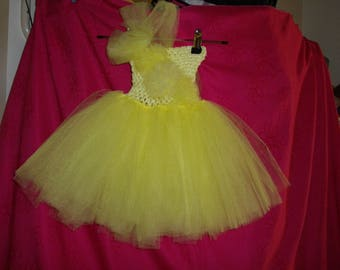Child's Yellow Tulle Tutu 2-3yrs