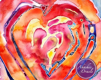 OPEN MY HEART To Love ~ Framed Art Print ~ Experience love with your body, mind, and soul <3