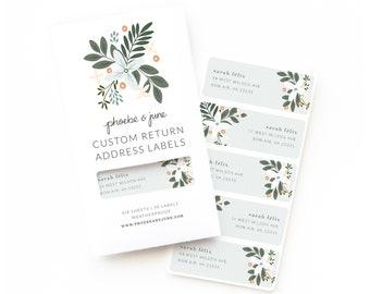 Personalized Return Address Labels | Custom Return Address Labels Set of 30 : Morning Blooms Personalized Address Labels