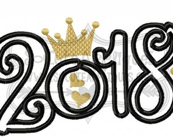 2018 Princess Queen -2018 -New Years -New Years Celebration -New Years Vibe -Holiday -New Years Resolution -Welcome 2018 -King 2018