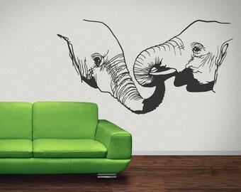 Vinyl Wall Decal Sticker Elephant Love OSMB683s