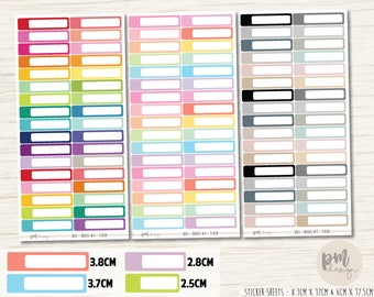 Boxes #3 Stickers - Rounded - Planner Stickers - B03