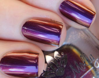 """Nail polish - """"Untapped Potential"""" A purple / red / orange / gold multichrome"""