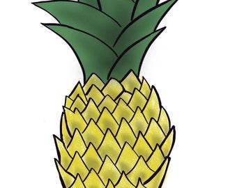 Pineapple Digital Art - immediate download.