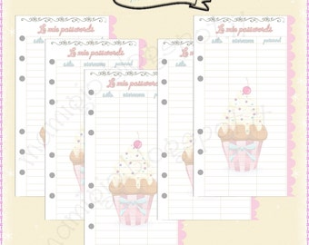 Insert Password for filofax Diary-style Cupcakes