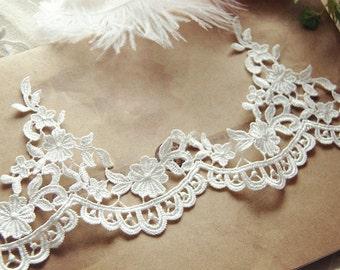 15 yards Bridal Lace Trim ,Crochet Venice Embroidery Lace Trim