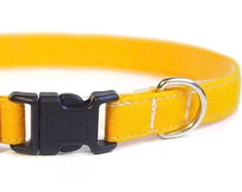 Mustard Yellow Cat Collar | Breakaway Cat Collar | Handmade | Adjustable |Small Dog Collar |Pet Collar |Safety Cat Collar | Dog Collar Solid