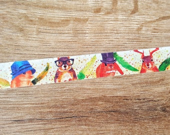 Squirrel Washi Tape// Animal Washi Tape