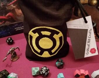 Yellow Lantern Dice bag