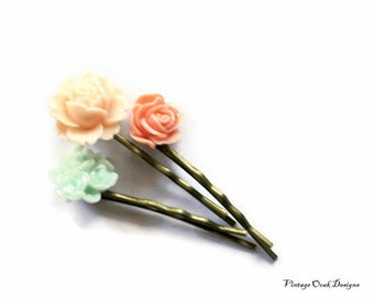 Boho Flower Hair Accessories, Boho Flower Hair Pins,Boho Hair Pins,Flower Bobby Pins, Wedding Hair Accessories, Bridesmaid Hair Pins,FLowers