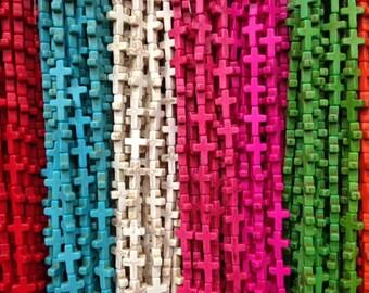 15x20mm howlite cross beads