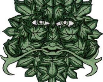 Green Man Patch 8.5cm x 9cm