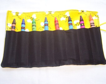 Bumble bee crayon roll up 8 count