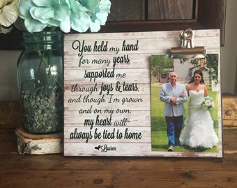 Personalized Wedding Gift, You Held My Hand For Many Years, Father Of The Bride Frame, Parents Of The Bride Gift, Wedding Gift