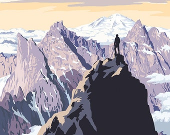 North Cascades National Park, Washington - Mountain Peaks (Art Prints available in multiple sizes)