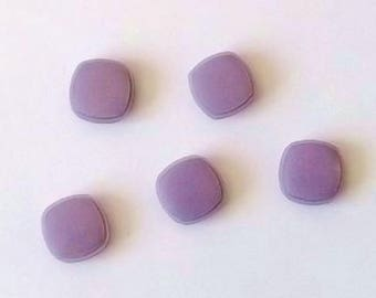 5 square buttons 15mm