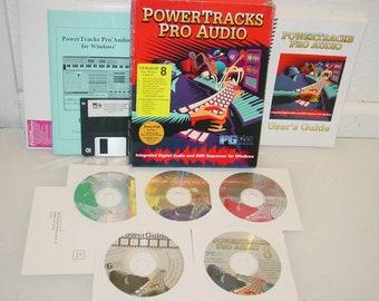 Vintage PowerTracks Pro Audio V.8 Music Audio Software for Windows PC 95/98