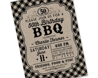 Birthday BBQ Invitation Birthday BBQ Invite Birthday Party Invitation Backyard BBQ Birthday Party Adult Birthday Birthday Barbecue Any Event