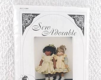 Vintage Doll Clothes Pattern 18 Inch Debbies Delight Pinafore Dress Pattern Sew Adorable 1996