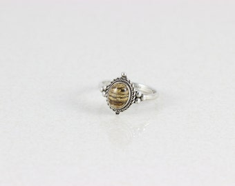 Sterling Silver Agate Ring size 6 3/4