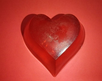 Red Big Heart Shaped Soap Scented Love Spell