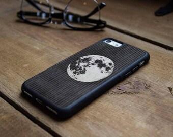 Lunar - Real Wood Traveler Bumper Case - iPhone SE/6/7/8/X/Plus - Galaxy Note 8/S9/S9 Plus/S8/S8 Plus/S7/S7 edge - Pixel/XL/2/2XL