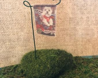 Miniature garden flag