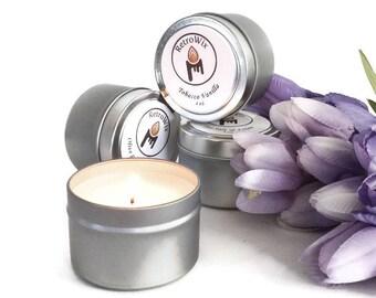 Garden Variety Soy Candles - Sampler Set - Pack of Four - 4 oz Tins - Travel Tins - Soy Candle Sampler