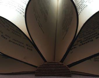 Folded book | Book Sculpture | Folded book | Recycling Book | Paper Flower | Art
