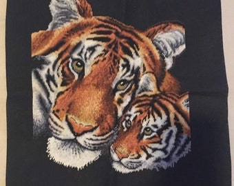 Tiger and Cub Embroidery