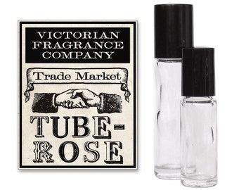TUBEROSE, Perfume Oil, Roll On Bottle, Personal Fragrance, Scented Body Oil, Floral Perfume, Single Note, Flowery, Garden Scents, Victorian