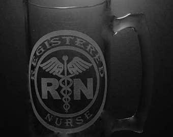25 Ounce Registered Nurse Beer Mug