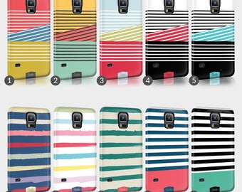 Lines Shabby Chic Striped Phone Case For HTC One Full Wrap Hard Cover Gift