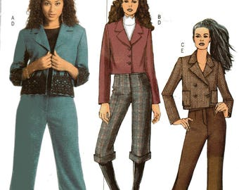 Butterick Fast Easy Pattern 4874 JACKET & PANTS Misses Sizes 16 18 20 22