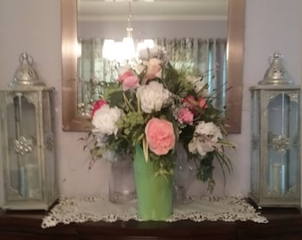 Spring Decor, Floral Centerpiece, Floral Arrangement, SPRING BLISS Hand Arranged Extra Large Silk Floral Arrangement Centerpiece