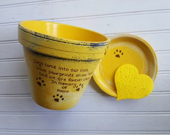 Pet Sympathy Gifts - Painted Flower Pots - Pet Memorial Gift - Dog Memorial - Cat Memorial - Memorial Planter