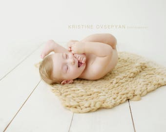 Caramel thin and thick blanket/beige blanket/bump blanket/basket stuffer/Newborn Photography Props/layering blanket/photo prop/preorder