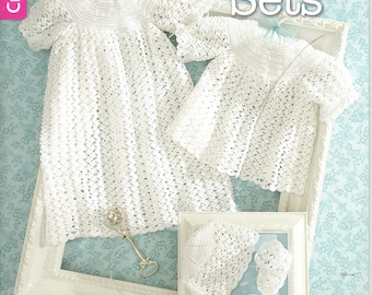 Christening Sets ~ crochet book ~ soft cover ~ Leisure Arts ~ New Book