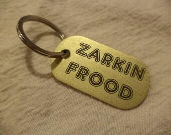 Zarkin Frood Etched Brass Keychain