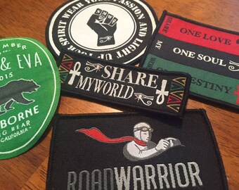 10 Custom Patches - IRON ON  - Your own artwork - Up to 10 Colors