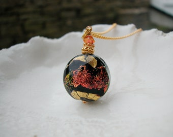 Venetian Murano Glass Dichroic Necklace