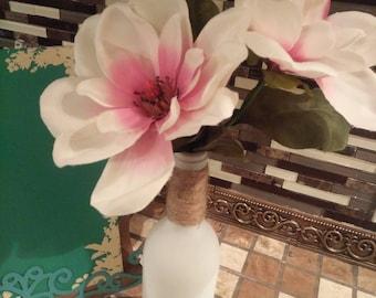 White Bottle Flower Decor