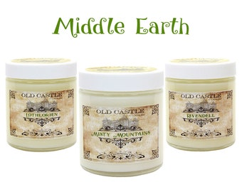 Lord of The Rings Soy Candles, Middle Earth Bookish Candles, Literary Gifts For The Hobbit, Soy Candles Handmade, LOTR Scented Candles