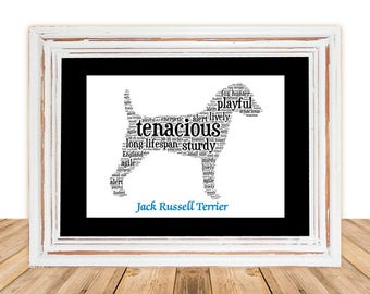Jack Russell, Jack Russell art, Custom, Personalize, Pet Gift, Gifts Under 25, Dog Art, Pet Art, Pet Love