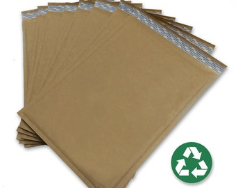 "Size #5 (10.5""x15"") Recycled Brown Kraft Bubble Mailer - Free Shipping!"